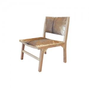 Chaise en peau de chèvre