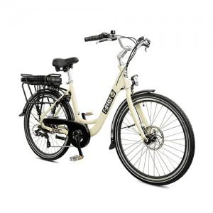 Vélo électrique vintage MIAMI BLANC SATIN, l'urbain dans l'âme du vélo électrique design.