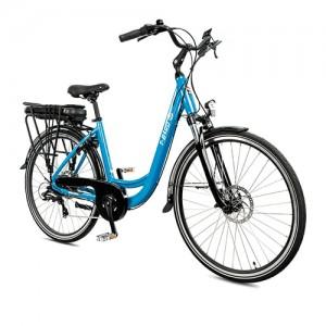 Vélo électrique vintage BORA-BORA BLEU, le polyvalent par excellence du vélo électrique design.