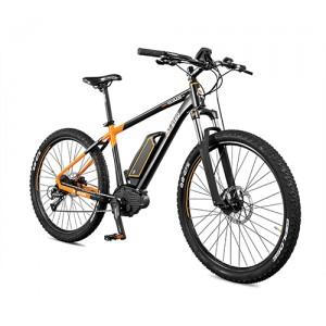 Vtt électrique puissant COLORADO ORANGE & NOIR, l'esprit de l'aigle du vélo électrique design.