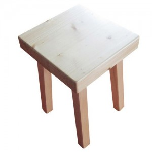 "Wooden stool : handmade model ""Le Chinaillon"""