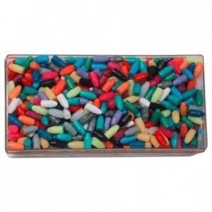 Chevilles plastiques multicolores