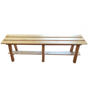 "Wooden bench, model ""Le Grand Bornand"" Hand made, 1 m long"