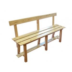 Banc en bois avec dossier 1 métre