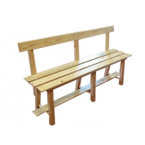 Banc en bois avec dossier 1 m tre laboutiqueduski - Construction banc en bois ...