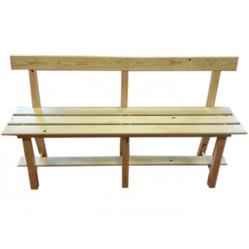 banc en bois avec dossier 1m50 laboutiqueduski. Black Bedroom Furniture Sets. Home Design Ideas