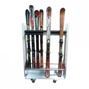 Chariot / Rack à ski pour 22 paires, 1m20