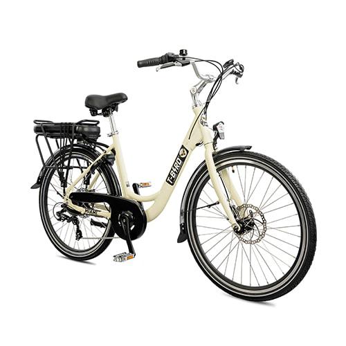 Vtt électrique puissant MONT-BLANC BLANC, le dévoreur de grands espaces du vélo électrique design.