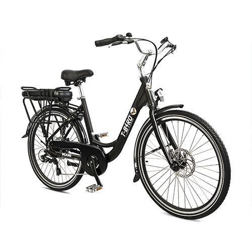 Vélo électrique vintage MIAMI NOIR SATIN, l'urbain dans l'âme du vélo électrique design.