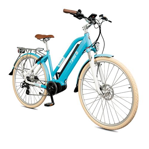 Vélo électrique vintage RIVIERA BLEU, le séducteur à l'état pur du vélo électrique design.