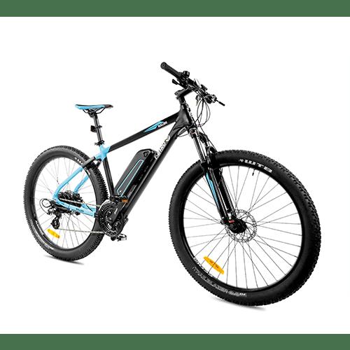 Vtt électrique puissant MALIBU NOIR & BLEU, le jouet extraordinaire du vélo électrique design.